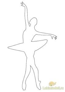 Снежинки балеринки трафареты для вырезания